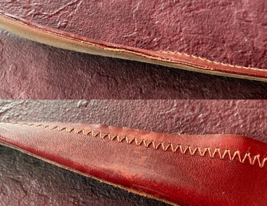 worn glued belt-100