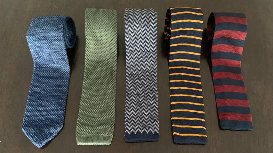 gravatas tricotadas